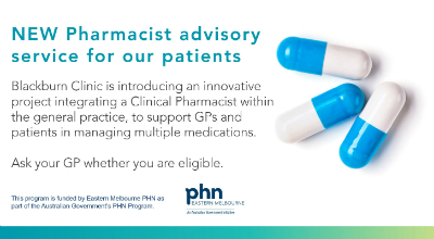 New Pharmacist Advisory Service for our patients